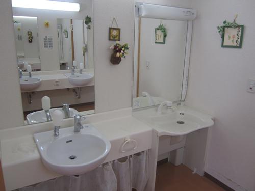 洗面所(右側は車椅子用)